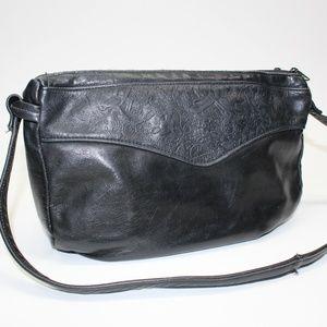 Vintage Tooled Leather Detail Purse